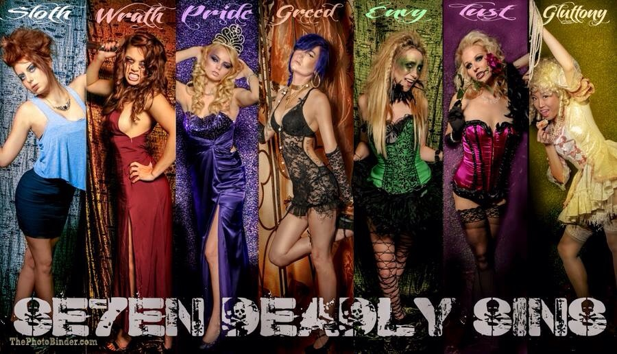 7 deadly sins - photography ideas?